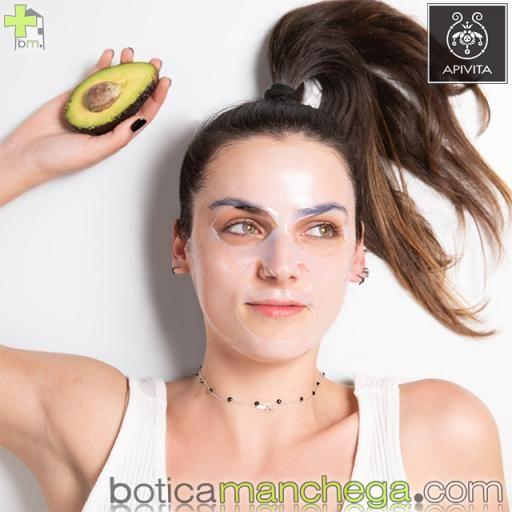 Mascarilla Facial de tejido con Aguacate- Express Beauty Tissue Hidratante y Calmante  Apivita, 10 ml [1]