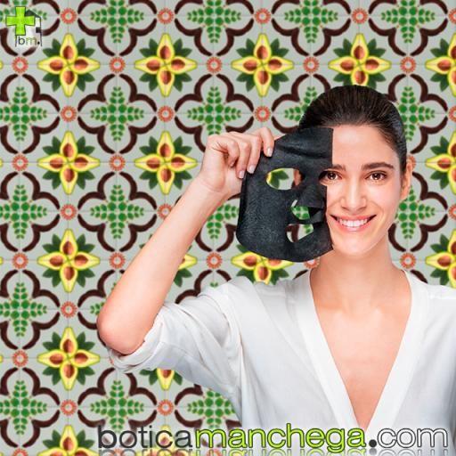 Mascarilla Facial de tejido con Algarroba y Carbón Vegetal Activo- Express Beauty Tissue Detox y Purificante Apivita, 20 ml [2]