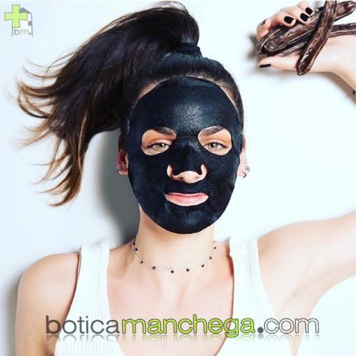 Mascarilla Facial de tejido con Algarroba y Carbón Vegetal Activo- Express Beauty Tissue Detox y Purificante Apivita, 20 ml [1]