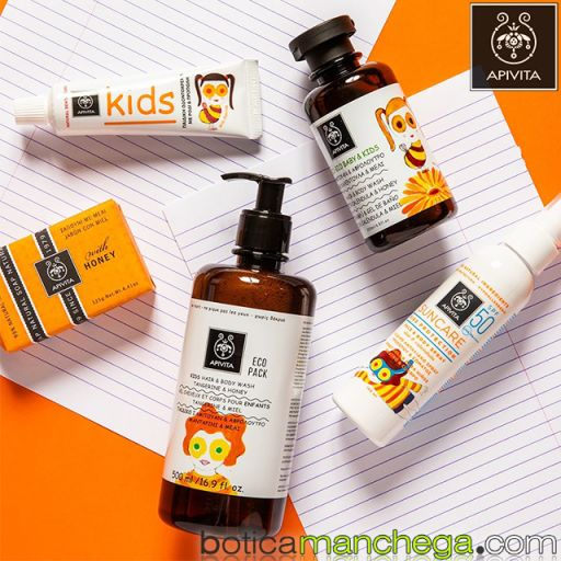 Dentífrico Natural Dental Care Kids 2+ Crema dental para niños con Granada y Propóleo Apivita, 50 ml [2]