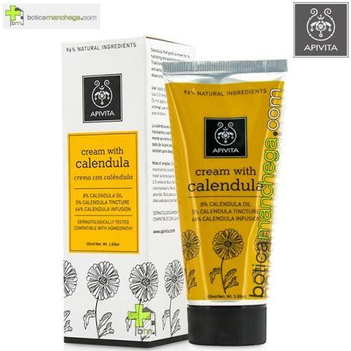 Crema Herbal con Caléndula Apivita, 40 ml