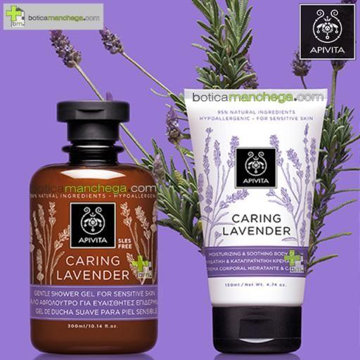 Apivita CARING LAVENDER Crema Corporal Hidratante y Calmante / Hipoalergénica, 150 ml [3]