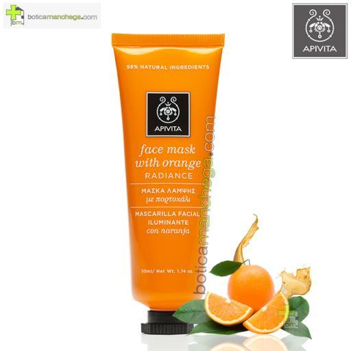 APIVITA Mascarilla Facial Naranja Revitalizante e Iluminadora, 50 ml