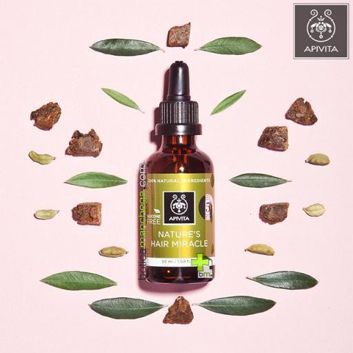 Aceite Fortificante y Energizante para el cabello Apivita con Propóleo y 5 aceites esenciales, 50 ml. REGALO: Champú Cuidado Capilar Holístico a Elegir, 20 ml [2]