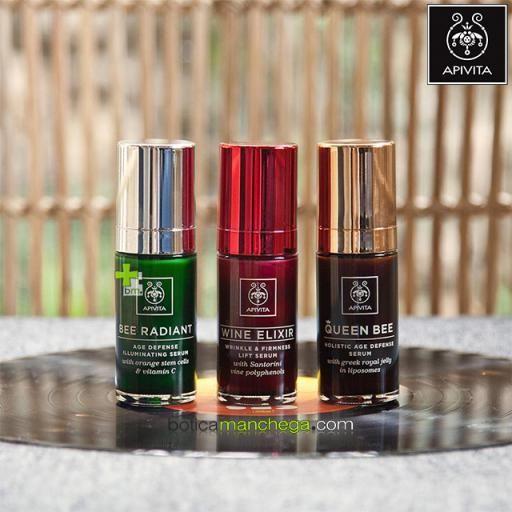BEE RADIANT Serum Iluminador Defensa Antiedad, 30 ml + REGALO: Cleansing Apivita, 20 ml + Cuidado Facial A Elegir, 2 ml [1]