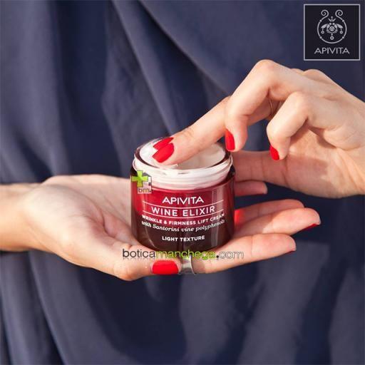 PROMO Wine Elixir Crema Textura Ligera Antiarrugas y Reafirmante con Efecto Lifting Apivita con polifenoles de uva de Santorini, 50 ml + REGALO ESPECIAL: Mascarilla Facial, 8 ml [1]