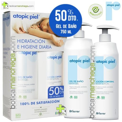 Atopic Piel Eco PROMO Loción Corporal Body Lotion, 500 ml + Gel de Baño 50% DTO. 750 ml