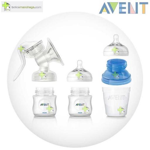 Philips Avent Extractor Manual Confort con Recipientes de Almacenamiento para leche materna [1]