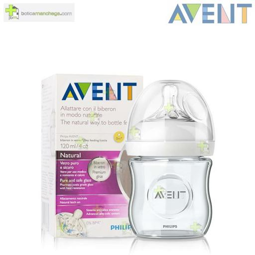 Philips AVENT Biberón 120ml +0M Natural Silicona Cristal