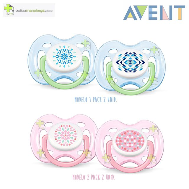 Pack 2 Chupetes 0-6M Philips AVENT Ventilados Tetina Silicona