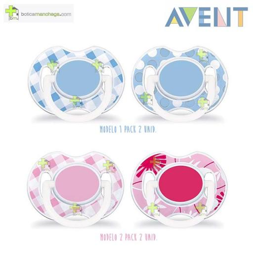 Pack 2 Chupetes 0-6M Philips AVENT Decorados Tetina Silicona