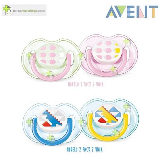Pack 2 Chupetes 0-6M Philips AVENT Classic Deco Tetina Silicona [0]