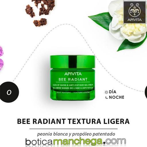 PROMO Bee Radiant Textura Ligera con Peonía Blanca y Propóleo Primeros Signos de la Edad, Luminosidad y Antigatiga Apivita, 50 ml + REGALO ESPECIAL: Mascarilla Facial, 8 ml [1]