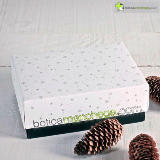 Caja para Regalo Modelo Blanca Estrellas Doradas [1]
