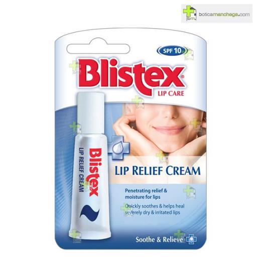 Blistex Lip Relief Cream SPF10, Labios castigados y agrietados
