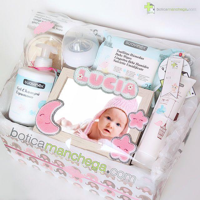 Canastilla SWEET NIGHT Rosa Personalizada con el nombre del Bebé Botica Manchega