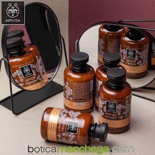 PROMO HONEY Nutrición & Hidratación Apivita Gel de Ducha Cremoso, Crema Corporal Hidratante + REGALO ESPECIAL Jabón Natural y Bálsamo Labial Bio-Eco con Miel  [2]