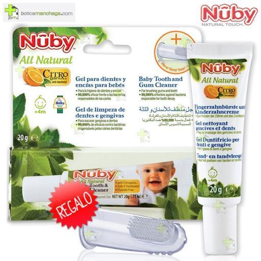 Gel dientes y encías bebés +4M Citroganix™ 20 g/ REGALO Cepillo Masajeador Nûby