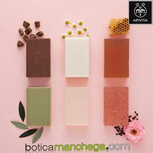 Jabón Natural con Miel y Lavanda- Apivita Natural Soap Honey, 125 g [2]