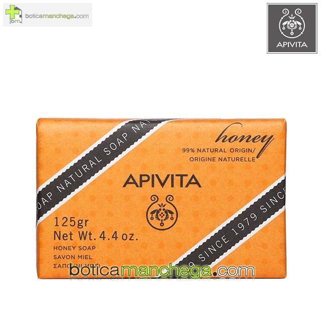 Jabón Natural con Miel y Lavanda- Apivita Natural Soap Honey, 125 g