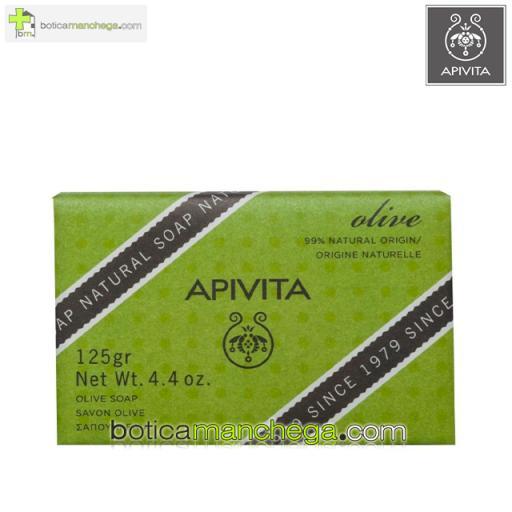 Jabón Natural con Oliva y Geranio Apivita Natural Soap, 125g