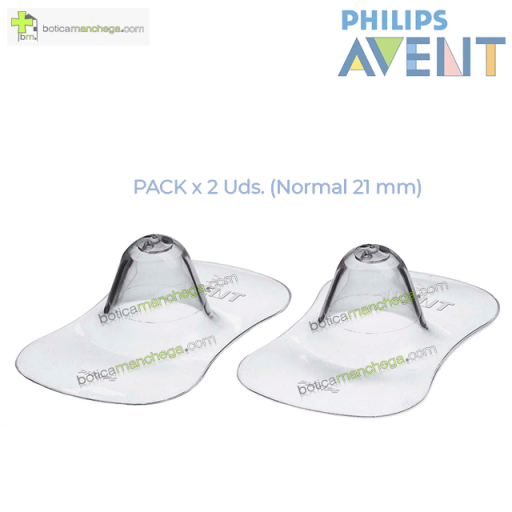 Protectores de Pezones Silicona tamaño normal (21 mm) Philips Avent, 2 unidades
