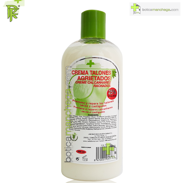 Crema Talones Agrietados 25% Urea Rueda Farma, 300 ml