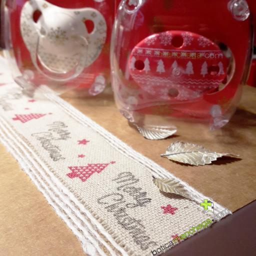 Broche Clip Ovalado Modelo Rojo/Blanco Winter Wishes Colección WINTER/NAVIDAD Edición Limitada Suavinex +0M [1]