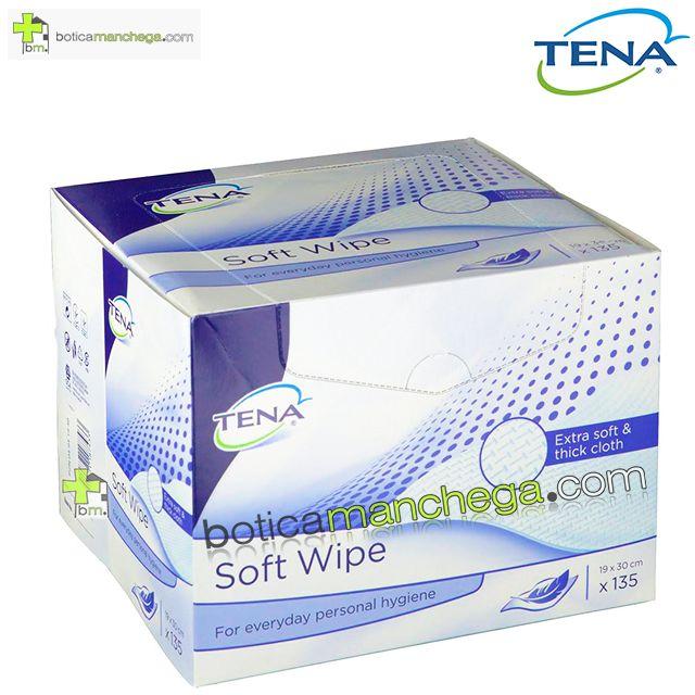 Toallitas Limpiadoras Tena Soft Wipe 19 x 30 cm, 135 unidades