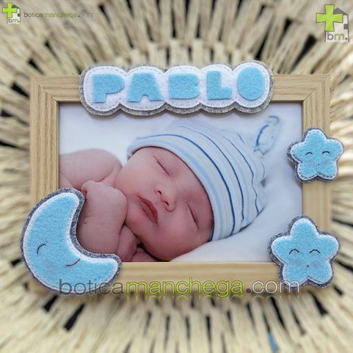 Canastilla SWEET NIGHT Azul Personalizada con el nombre del Bebé Botica Manchega [1]