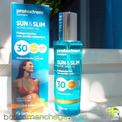 Suncare Pack DUPLO Protextrem Sun & Slim Aceite Seco FPS 30 Acción Reafirmante y Reductora, 2 x 200 ml [1]