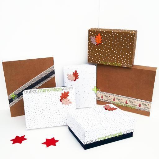 Caja para Regalo Modelo Blanca Confetti Dorado [2]