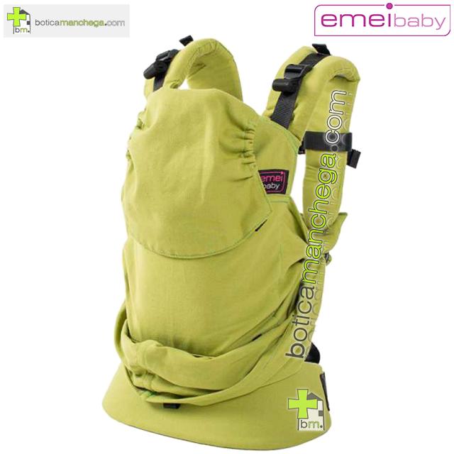 Emeibaby Mochila Portabebés Ergonómica Evolutiva, Modelo Verde Lisa
