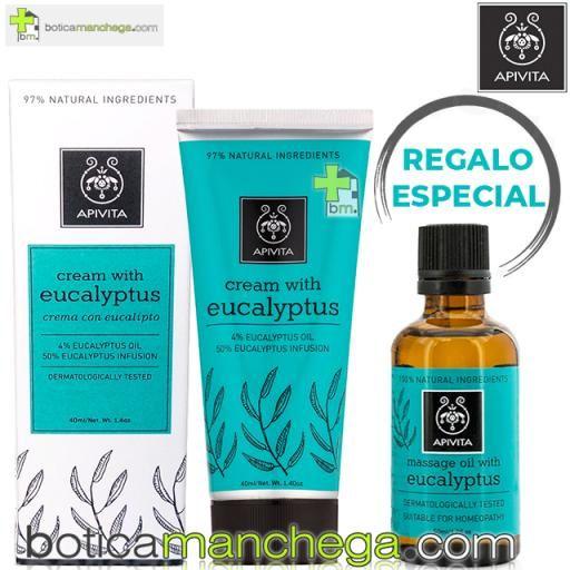PROMO Crema Herbal con Eucalipto Apivita, 40 ml + REGALO ESPECIAL Aceite para masaje con Eucalipto, 50 ml