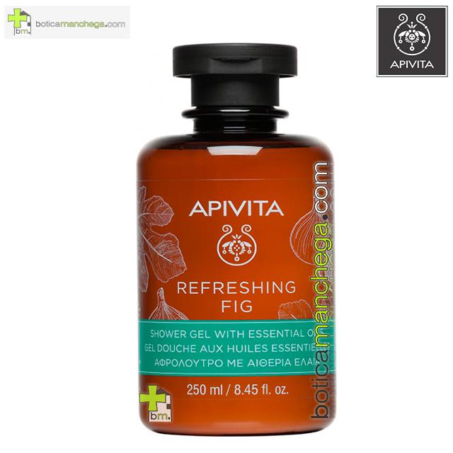 Refreshing Fig Gel de Baño con Aceites Esenciales Apivita, 250 ml