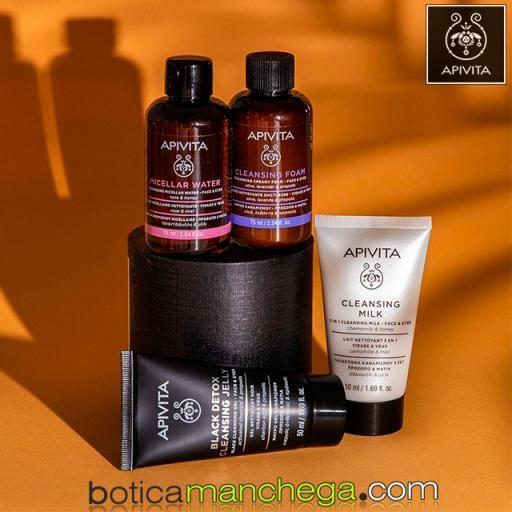 Mini Agua Micelar Limpiadora Rostro y Ojos Cleansing Apivita Con Rosa y Miel, 75 ml [1]
