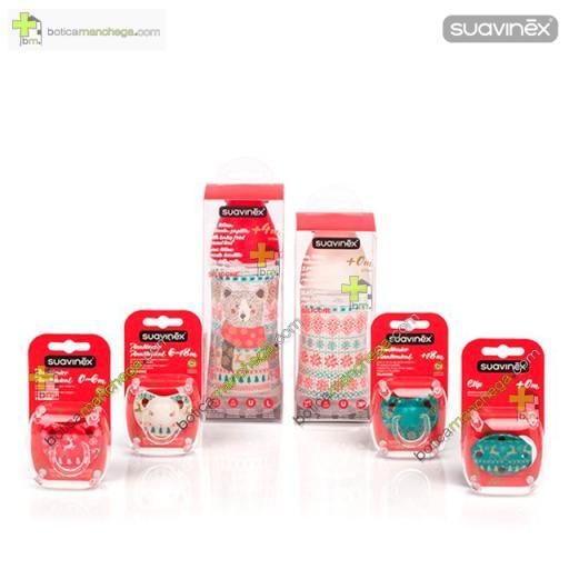 Suavinex Biberón Winter Wishes Colección Navidad Edición Limitada Tetina redonda 3 posiciones Silicona +0M , 270 ml [1]