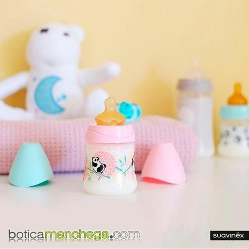 Canastilla Colección PANDA Personalizada con el nombre del bebé Mod. Rosa Botica Manchega Suavinex [1]