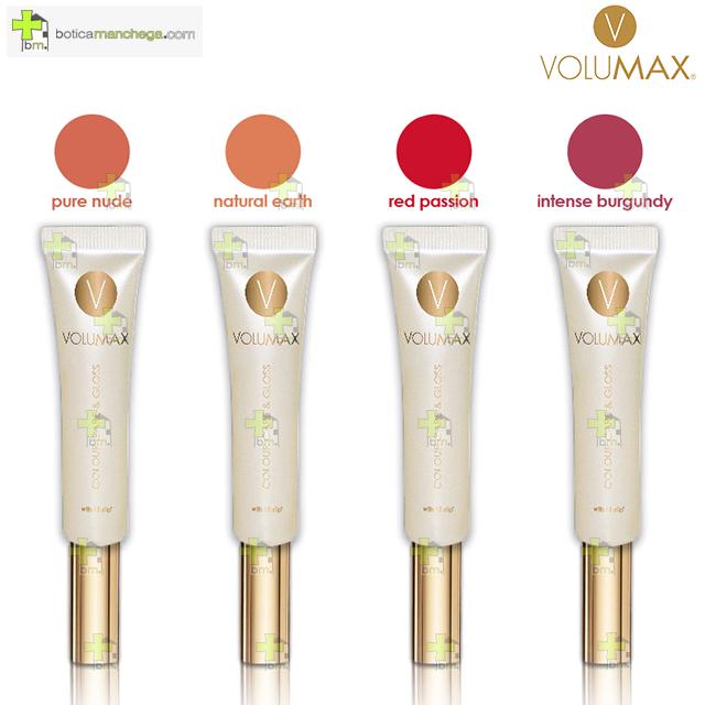 VOLUMAX Colour Care & Gloss. Bálsamo color, cuidado y brillo labial, 15 ml