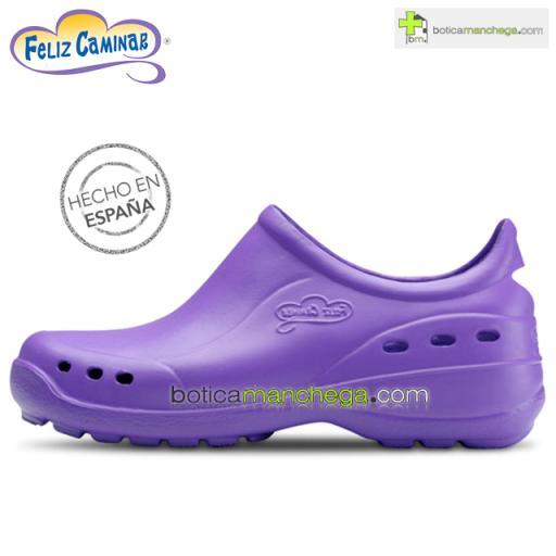 Zuecos Sanitarios Flotantes Shoes Lavanda Feliz Caminar Profesionales