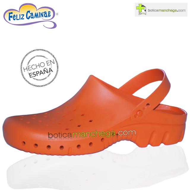 Zuecos Sanitarios Técnicos Naranja Feliz Caminar Profesionales