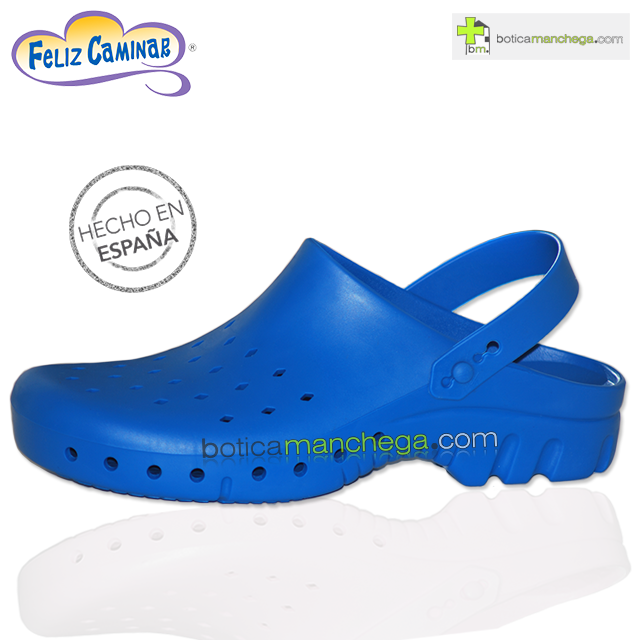 Zuecos Sanitarios Técnicos Azul Feliz Caminar Profesionales