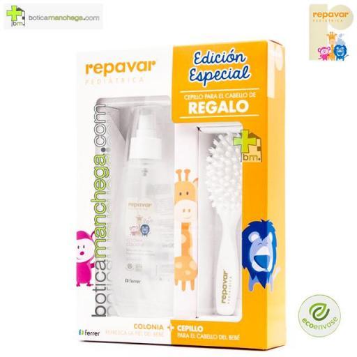 EDICIÓN ESPECIAL Repavar Pediátrica Colonia, 200 ml + REGALO: Cepillo para el cabello. Personalización con el nombre del bebé opcional