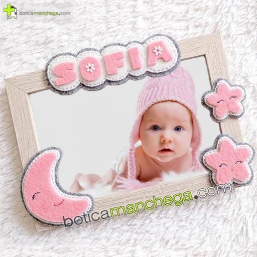 Canastilla SWEET NIGHT Rosa Personalizada con el nombre del Bebé Botica Manchega [1]