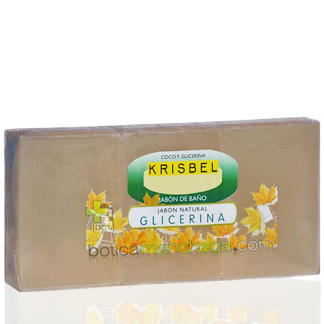KRISBEL Jabón Natural de Baño Glicerina, 3 x 125g