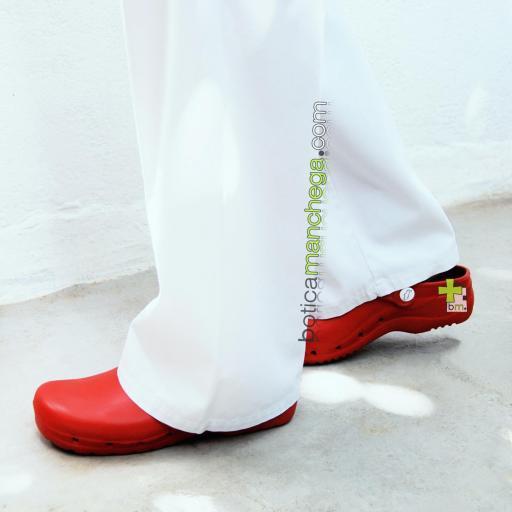 Zuecos Sanitarios Flotantes Rojo Feliz Caminar Profesionales [1]
