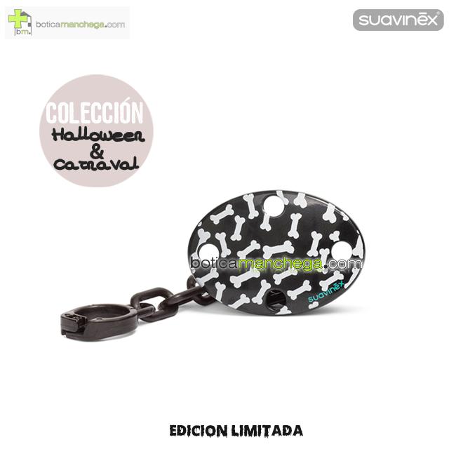 Broche Ovalado Negro Huesitos Colección DISFRACES/CARNAVAL/HALLOWEEN Suavinex