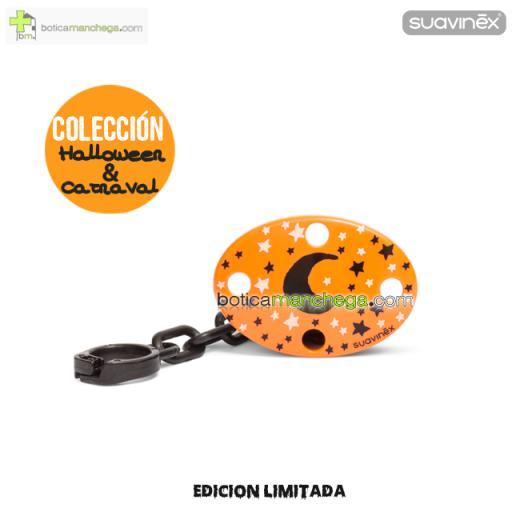 Broche Ovalado Naranja Luna Negra Colección DISFRACES/CARNAVAL/HALLOWEEN Suavinex
