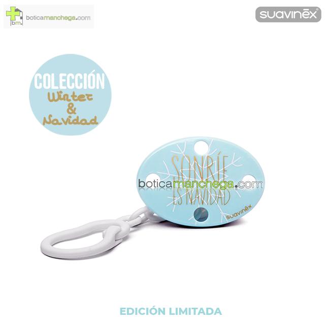 Broche Ovalado Modelo SONRIE ES NAVIDAD, Colección WINTER/NAVIDAD Suavinex +0M