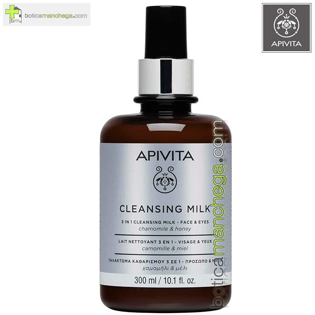 Leche Limpiadora 3 en 1 Facial-Ojos Cleansing Milk Apivita con Camomila y Miel EDICIÓN LIMITADA, 300 ml